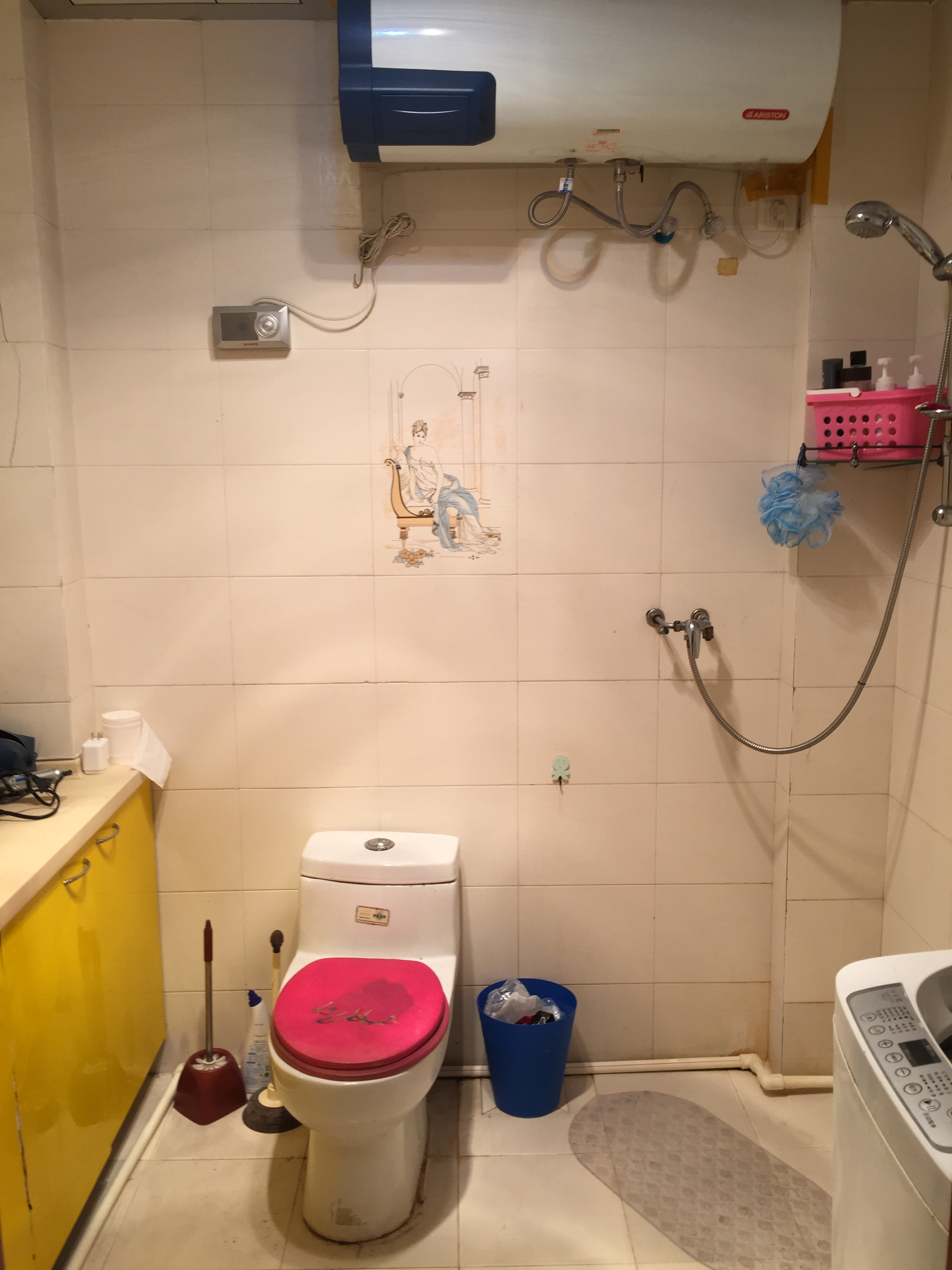 Bathroom in Chinese apartment.