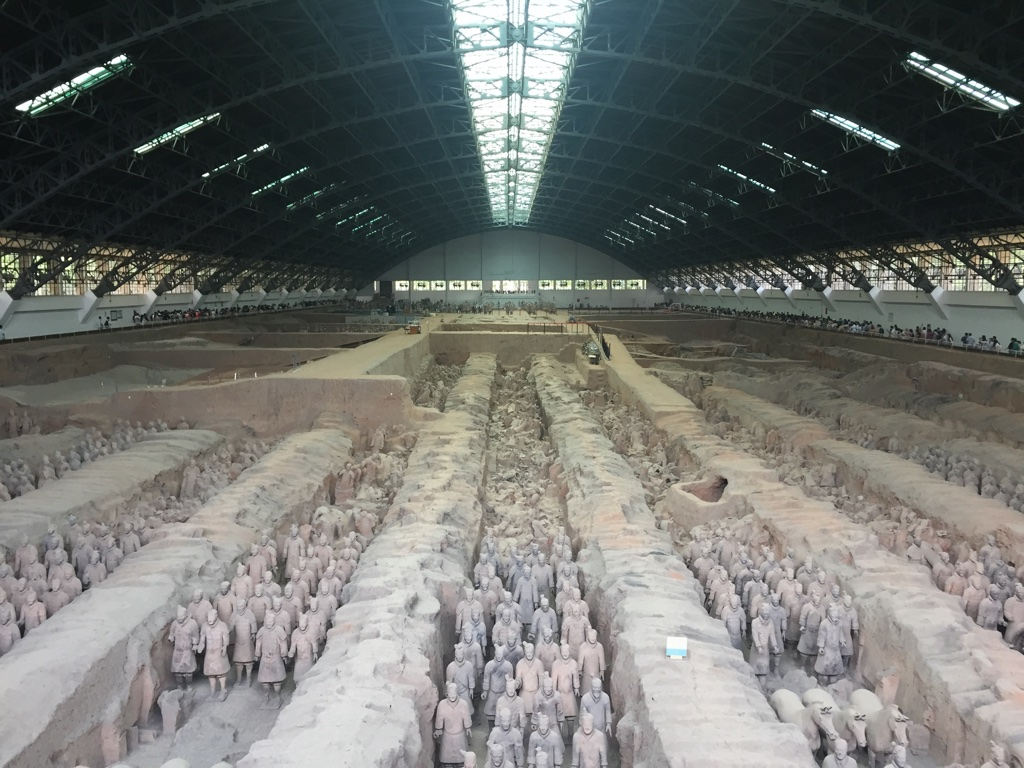 First pit of Terracotta Warriors.