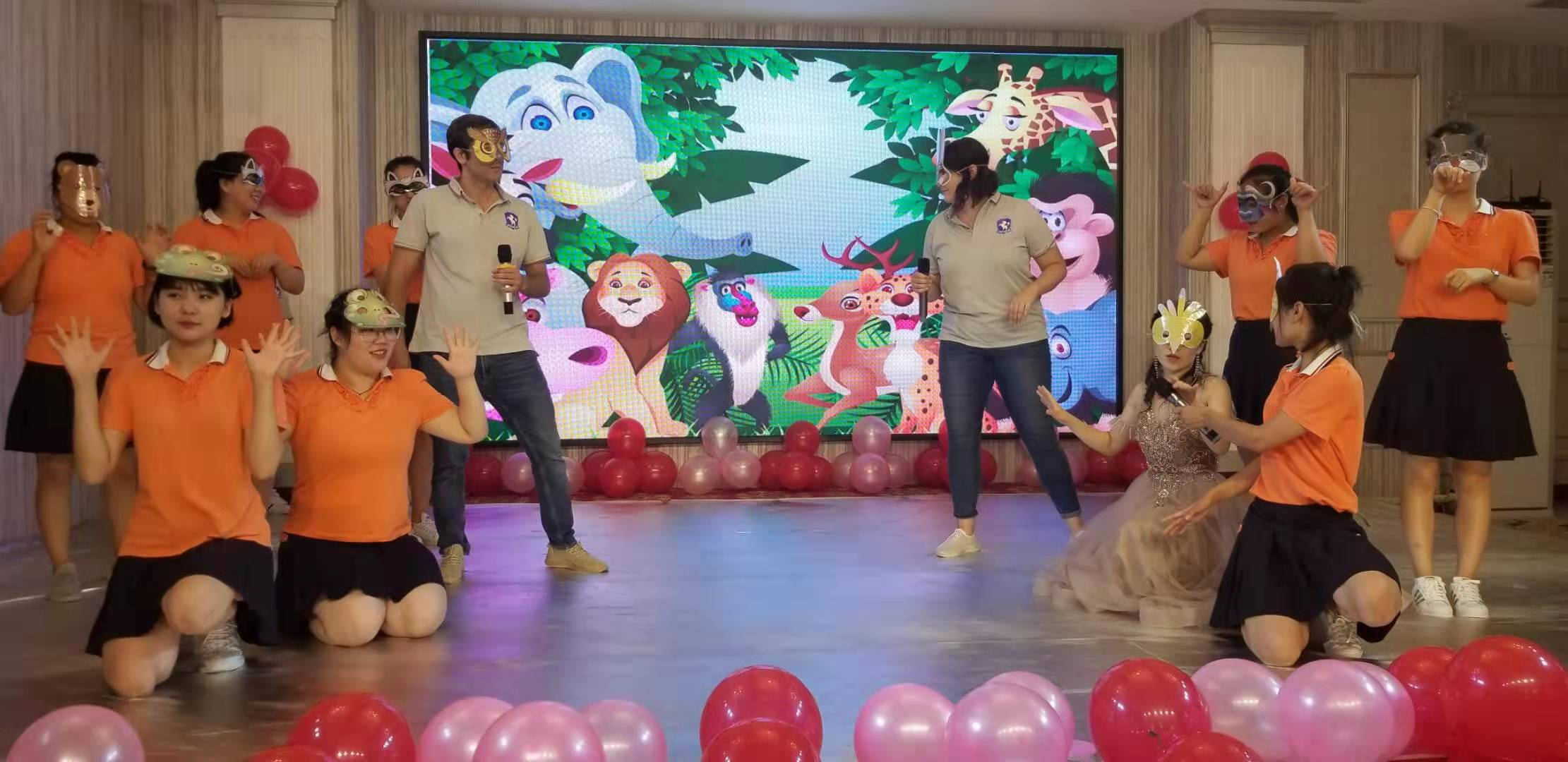 Teachers' performance at a Chinese kindergarten graduation