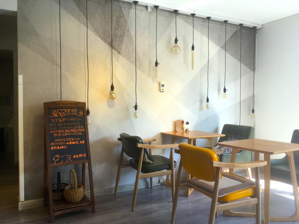 Interior of the alpaca café.