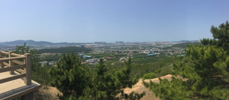 View from the top of a mountain in Lushun, Dalian.