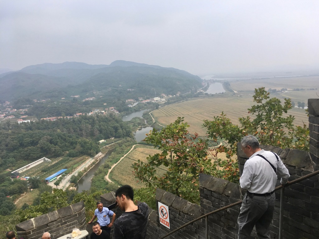 View from the top of Hushan Great Wall