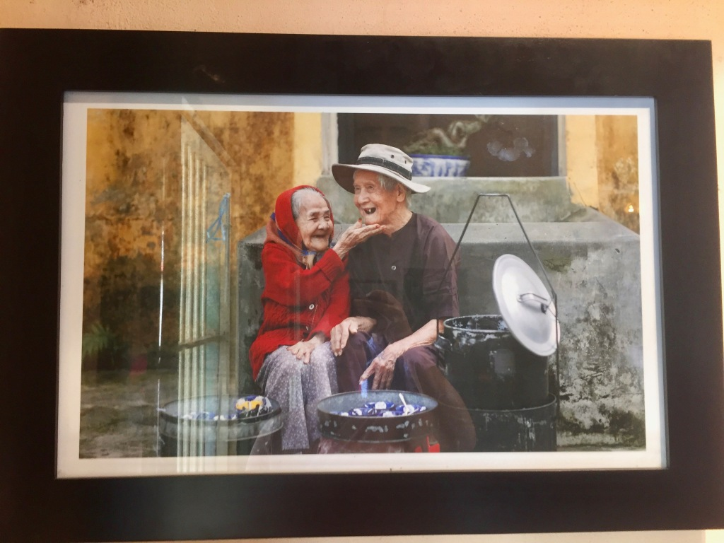 Photo of the couple who started the black sesame soup business.
