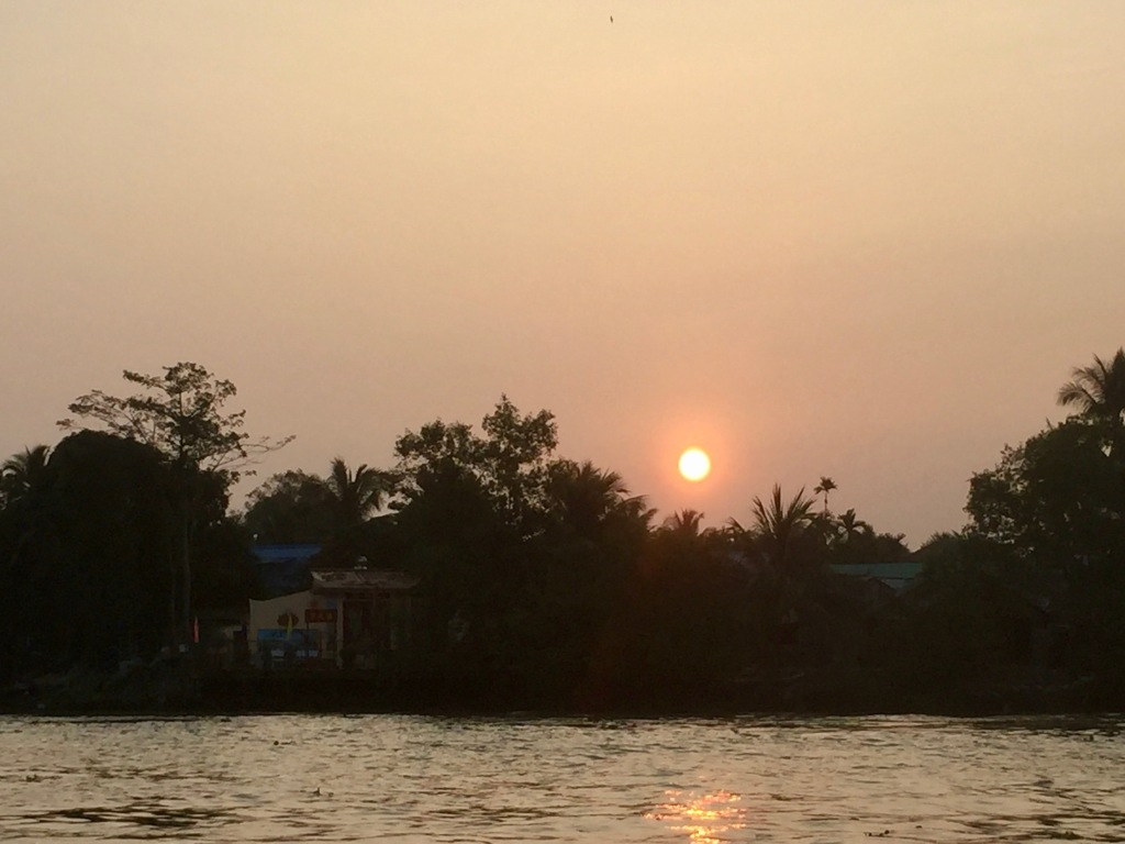 Sunrise from the Mekong Delta
