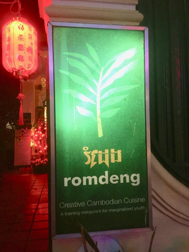 Romdeng restaurant sign.